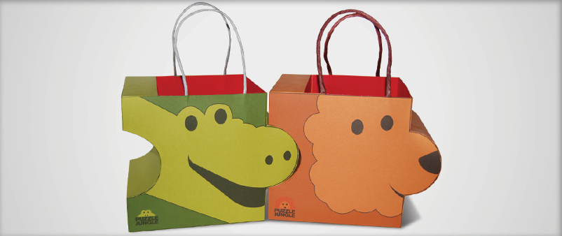 Puzzle Jungle Shopping Bag Design