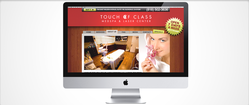 Touch of Class / Website Design